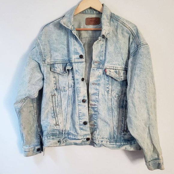 Levi's Vintage Acid Wash Denim Jean Trucker Jacket